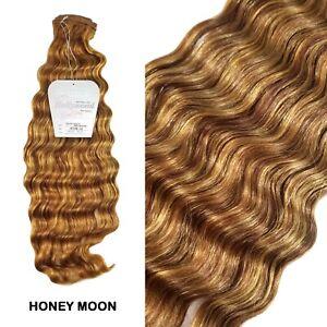 "Hollywood 100% Human Hair 18"" Italian French Deep Weavings - Honey Moon"