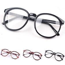Fashion Unisex Clear Lens Eyeglasses Frame Retro Round Men Women Nerd Glasses