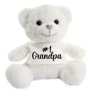 Number 1 Grandpa Father day super soft cuddly Christmas gift Birthday Teddy Bear
