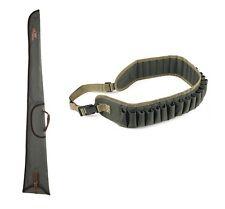 kit fodero fucile verde + cartuccera da caccia custodia verde calibro 12