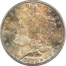 1882-S $1 PCGS MS 66 Morgan Silver Dollar Toned Toning MS66
