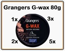 Grangers G-Wax 80g Waterproofer Leather Beeswax Polish Dubbin Shoe/Boot 1X 2X 3X