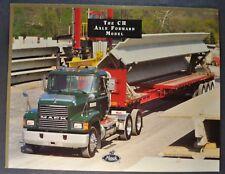 1998 Mack Truck CH Axle Forward Sales Brochure Sheet Nice Original 98