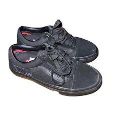 Vans skateboarding pop cush duracap all black suede sneakers size 4