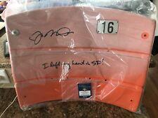 Joe Montana Autographed San Francisco 49ers Candlestick Park seat back Steiner