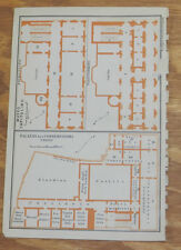 1909 Antique COLOR Layout Maps of CAPITOL. MUSEUMS OF ART/ARCHAEOLOGY/ROME,ITALY
