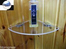 Bathroom Shower Wall Corner Clear Acrylic Plexi-glass Floating Shelf 7.5X7.5 In