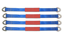 Set of 4 Car Tie Down Axle Straps Trailer Truck RV Axel 10,000# Flatbed Auto