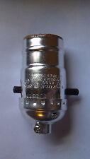 Push Thru Lamp Socket for standard size Light Bulbs Nickel Plated Shell Side Cap