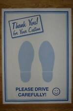PRINTED DISPOSABLE 2 FEET PAPER CAR FLOOR MATS x 50