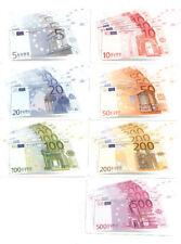 7 SCHEDE TELEFONICHE  NUOVE  ( BANCONOTE  EURO )
