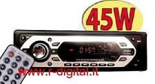 AUTORADIO FM LCD LETTORE MP3 PORTA USB LETTORE SD MMC TELECOMANDO MULTI CARD
