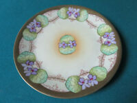 """COLLECTOR PLATE CALSBAD PRUSSIA FLORAL CHINA CABINET 7 3/4"""" [*a4-1L]"""