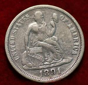 1891-O New Orleans Mint Silver Seated Liberty Dime