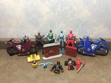 Power Rangers Ninja Storm Action Figures Lot With Motorcycle and Accessories
