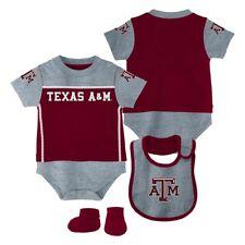 "Texas A&M Aggies NCAA Infant Maroon ""Lil Jersey"" Creeper, Bib & Bootie Set"