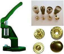 Druckknopfpresse + 180 Druckknöpfe VT-2 / 10mm gold + Werkzeug für Stoff, Tuch