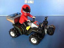 (L59) playmobil quad à friction secours en montagne ref 5429