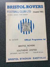 Bristol Rovers v Southend United programme 1964/65