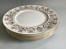 """More details for vintage coalport allegro bone china 10 1/2"""" dinner plates - set of 6"""