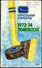 1973/74 VANCOUVER CANUCKS NHL HOCKEY MEDIA GUIDE YEARBOOK Schmautz BOB DAILEY rc