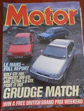 Motor 20/6/87 Le Mans report, Golf GTi 16v vs 309 GTi vs Astra GTE