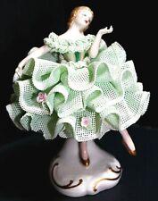 Irish Dresden Ballerina 1978 Lorraine Ireland Emerald Collection Lace Figurine
