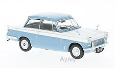 Whitebox WB119 Triumph Herald 1959 Lt. Blue/White 1/43rd Scale In Case T48 Post