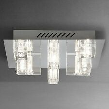 John Lewis Brody Modern Square Glass 9 Light Semi Flush Ceiling Light Fitting