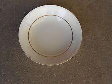 """Sheffield SONATA 606 7.5"""" SOUP BOWL  White on White  Japan Gold Trim"""