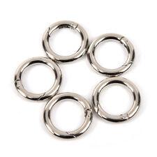 5pcs Circle Metal Carabiner Hook Snap Round Clip Hook Keychain Outdoor Hanger AB