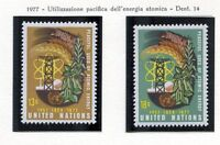 19142) UNITED NATIONS (New York) 1977 MNH** Atomic Energy 2v
