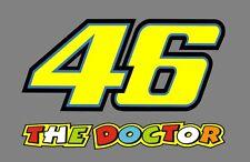 2 x Startnummer 46 Aufkleber Valentino Rossi THE DOCTOR