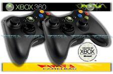 2x Original Microsoft Wireless Gamepad Controller Pad Schwarz Xbox 360 Neu