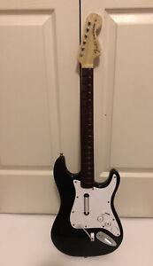 Rockband Harmonix Black Fender Stratocaster Wireless Guitar Nintendo Wii READ