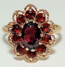 9 Carat Cluster Yellow Gold Anniversary Fine Diamond Rings