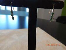 14k yellow gold green garnet earrings