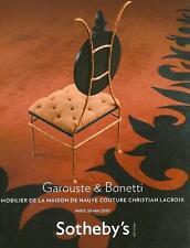 Sotheby's Garouste & Bonnetti / Christian Lacroix Auction Catalog 2010