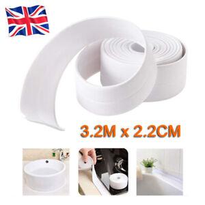 Waterproof Kitchen Bathroom PVC Adhesive Sealing Tape Sink Caulk Strip Corner UK