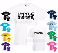 Girls Personalised Big Sister T-Shirt Birthday Gift Kids T Shirt Surprise Tee