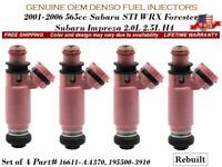 Genuine OEM Subaru Forester /& WRX Fuel Injector 2006-2019 16611AA720