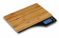 Kabalo 5kg Wooden Bamboo Kitchen Household Weighing Digital Scale - Brown/Black