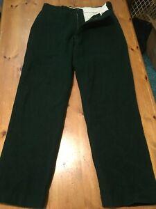 VTG 1960s Wool Hunting Trousers Pants Green Serval Zipper 31x29