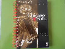 1998-99 CHICAGO BULLS MEDIA GUIDE Yearbook DEF 3X NBA CHAMPIONS 1999 Program AD