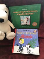 Kohl's Snoopy Plush ~ With    2 HC Book's Peanuts Charlie Brown Lucy Sally