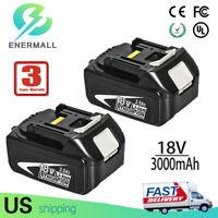 For Makita BL1830 18V Battery 3.0Ah Lithium LXT BL1840 BL1850 BL1845 BL1860 2Pcs