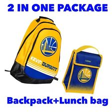 Kevin Durant NBA Golden State Warriors Backpack+Lunch bag 2 in1 Package