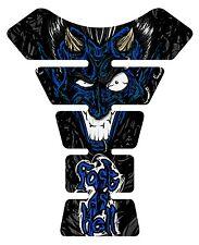 Fast as Hell Devil Black Blue  Motorcycle Gel Gas tank pad tankpad protector