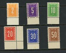 X505  Israel  1949   postage dues  6v.    MNH
