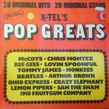 K-TEL'S POP GREATS - 20 ORIGINAL HITS / 20 ORIGINAL STARS 1974 -LP Vinyl
